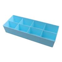 糖果八格塑料收纳盒内裤袜子分类整理收纳盒抽屉整理盒
