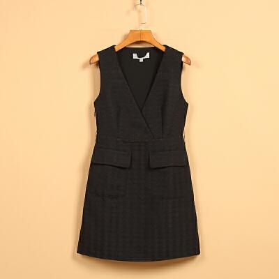 【秋二波】新款春8F1214学院风双插口低领无袖连衣裙 一般在付款后3-90天左右发货,具体发货时间请以与客服协商的时间为准