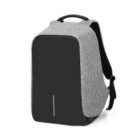 双肩包男女帆布背包男士商务5.6寸电脑包多功能防盗书包旅行背包