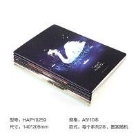 晨光文具笔记本缝线本套装A5/16K可爱学生记事本10本装