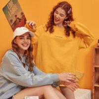 【1件3折到手价:148.8】美特斯邦威卫衣女秋季新款时尚宽松潮流圆领女士针织套头衫