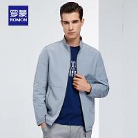 罗蒙男士短款夹克衫2020春季新款时尚休闲中青年简约百搭立领外套