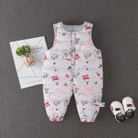 男宝宝背带裤6-12个月婴儿冬装裤子韩版婴幼儿棉裤加厚保暖连体裤