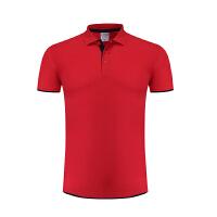 定制T恤广告文化POLO衫定做纯棉短袖DIY工作衣服印字LOGO照片来图