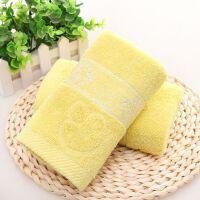 ???毛巾家用洗脸吸水面巾结婚礼盒 柠檬黄 纯棉蘑菇 35x75cm