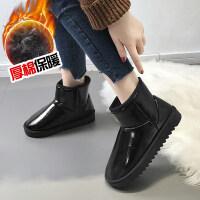 防水雪地靴女冬季韩版加绒加厚保暖靴学生百搭防滑短筒靴