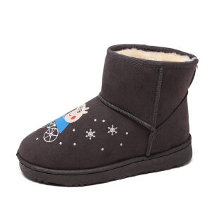 WARORWAR新品YM165-Q01冬季韩版磨砂绒平底舒适女士雪地靴