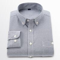 2018新款男士牛津纺衬衫青年时尚百搭修身衬衣