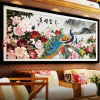 十字绣客厅线绣满绣7d印花大幅中国风景花开富贵十字绣 尺寸300*140厘米 棉线/满绣/买就送工具/免