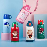 韩国杯具熊儿童保温杯带吸管两用水杯男女婴幼儿园宝宝小学生水壶