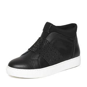 Teenmix/天美意冬专柜同款牛皮/织物简约舒适女休闲鞋AN661DM6