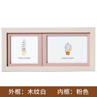 创意韩版婚纱照宝宝相框摆台影楼像框挂墙5寸6寸7寸横版照片组合