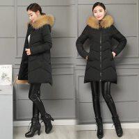 女中长款修身大毛领显瘦棉衣加厚冬装外套