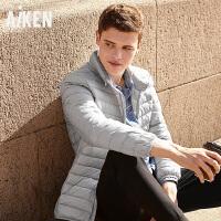 森马旗下Aiken羽绒服男男士轻薄短款外套防钻绒立领保暖衣服