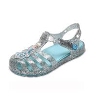 Crocs卡骆驰女童鞋伊莎贝拉冰雪奇缘小童凉鞋平底女儿童轻便涉水凉鞋|204460