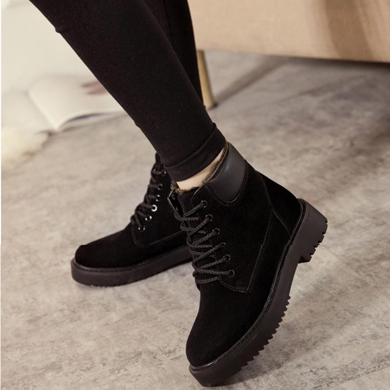 雪地靴 女士加绒加厚保暖短靴子2020冬季女式学生防滑圆头短筒棉鞋子 加绒加厚保暖防滑圆头短筒雪地靴子