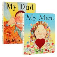 My Mum My Dad 我爸爸 我妈妈 纸板书 家庭关系 情商管理2册 Anthony Browne 安东尼・布朗经典作品 少儿英语绘本 英文绘本 适合3-6