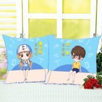 FGHGF 学生礼物小情侣十字绣抱枕一对卡通动漫卧室枕套汽车沙发靠垫