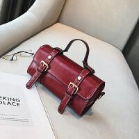 欧美时尚复古迷你小波士顿手提包夏季新款休闲斜挎小包包女包