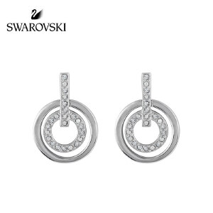 SWAROVSKI/施华洛世奇 CIRCLE透明简约时尚双环穿孔耳环 5007750