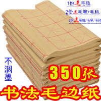 毛边纸米字格9cm28格书法练习宣纸12格初学者半生半熟