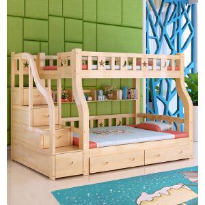 【限时直降】幸阁 天然松木子母床挂梯梯柜