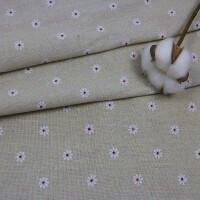 碎花布印花棉麻布料格子粗麻窗帘沙发仿麻布料布桌布手工diy布头一件半米