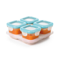 美国oxo辅食盒玻璃冷冻盒 辅食格冷冻格婴儿保鲜盒儿童宝宝存储盒