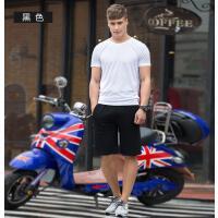 户外男夏季薄款透气休闲跑步裤纯棉运动短裤宽松拉链口袋五分裤