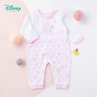 迪士尼Disney童装 婴儿连体衣春季新款卡通白雪公主纯棉内衣女宝宝肩开扣爬爬服191L771