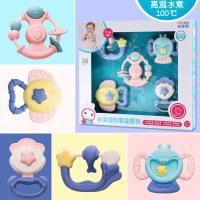 ?摇铃宝宝牙胶早教婴幼儿新生儿0-3-6-12个月1-2岁婴儿玩具 5只装水煮摇铃套装可啃咬