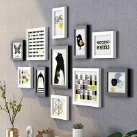 木质相框创意挂墙 像框架7寸10寸diy连挂相架照片架子组合 7寸、10寸组合