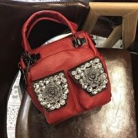 女士包包新款水钻闪亮立体口袋小包单肩斜挎包时尚手提包
