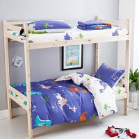 ???学生宿舍三件套床上用品全棉纯棉单人大学寝室被子床单被套六件套