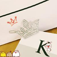 韩国原宿韩版软妹森发系皇冠发夹皇冠边夹可爱头饰女