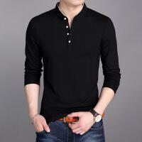 男士长袖t恤韩版潮流春秋polo衫休闲上衣男装青年纯色加绒卫衣