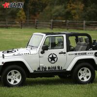 美军二战兄弟连贴越野整车贴纸jeep吉普牧马人切诺基拉花