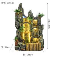 大型假山流水喷泉摆件水景客厅鱼缸水幕墙家居装饰摆设招财风水轮