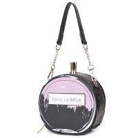 香水瓶小包女包时尚小圆包迷你个性斜挎包单肩手提新款 B-7326香水包黑色