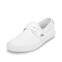 Lacoste法国鳄鱼女鞋舒适百搭帆布休闲小白鞋 7-31SPW0018专柜正品