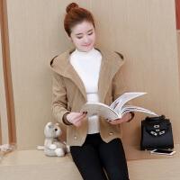 20秋冬新款女装韩版大码双排扣毛呢外套女短款修身羊绒呢子大衣