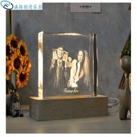 家居饰品内雕实用台灯琉光水晶创意卧室闺蜜礼物结婚礼品床头新婚假花树脂古典工艺品