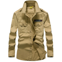 AFS JEEP男士长袖衬衫战地吉普大码宽松纯棉衬衣春秋季上衣2003