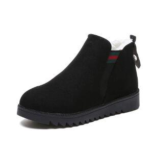 WARORWAR新品YM32-8877秋冬欧美平底舒适女士切尔西靴短靴