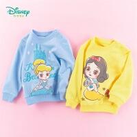 迪士尼Disney童装 女童甜美纯棉卫衣公主卡通印花上衣年春季新品迪斯尼宝宝衣服