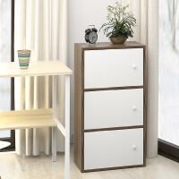 落地经济型大容量单人储物木制柜多层柜子地柜边柜木质简易客厅