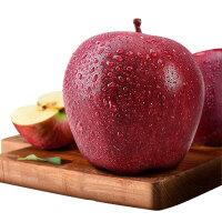 甘肃花牛苹果红蛇果圣诞节苹果平安果中果带箱10斤果径70-75mm 简装