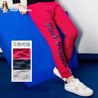 【159元选2件 】暇步士童装新款春装女童裤子大童单层长裤儿童时尚印花长裤