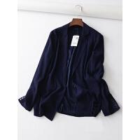 20新简约时尚国修身显瘦纯色一粒扣女士西装外套