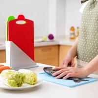 塑料分类切水果切菜板套装长方形辅食菜板案板家用厨房加厚小砧板